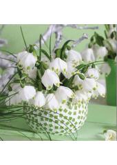 20 Serviettes Fleurs de printemps