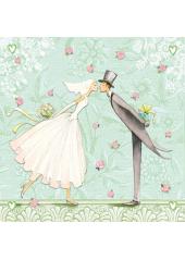 16 Serviettes Mariage Romantique