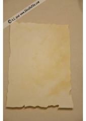 10 menus Parchemins A6 ivoire