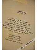 10 menus Parchemins A5 ivoire