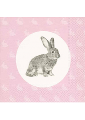 20 Serviettes Lapin Calin