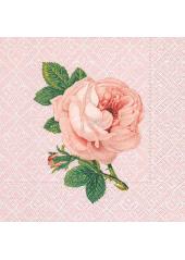 20 Serviettes Roses Retro