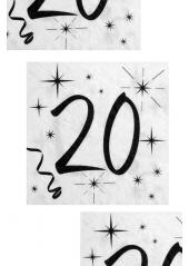 20 serviettes anniversaire 20 ans