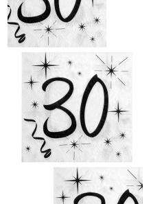 20 serviettes anniversaire 30 ans