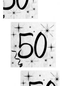 20 serviettes anniversaire 50 ans