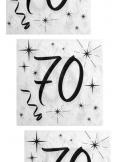 20 serviettes anniversaire 70 ans