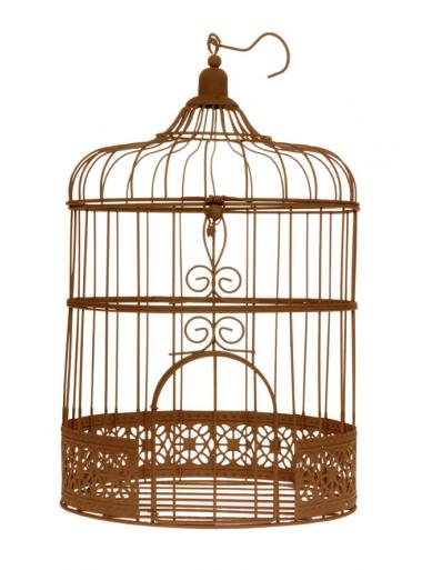 1 cage à oiseaux métal ROUILLE