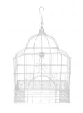 1 cage à oiseaux rectangle métal BLANC