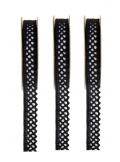 3M dentelle autocollante noire 10mm