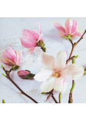 20 Serviettes imprimées magnolia