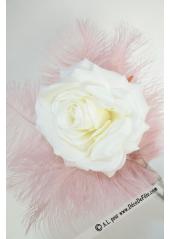 1 rose  Mylène blanche