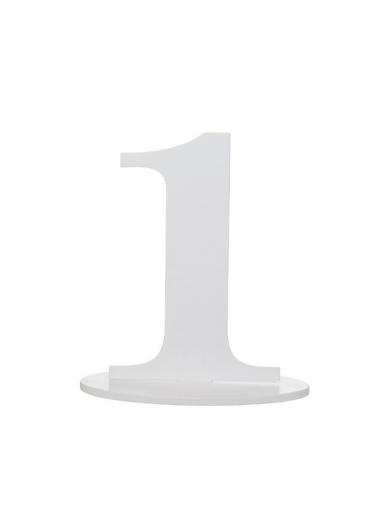 1 marque-table blanc chiffre 1
