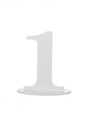 1 marque-table blanc chiffre 1