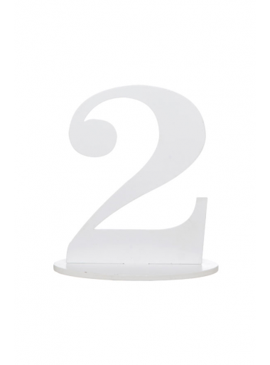 1 marque-table blanc chiffre 2