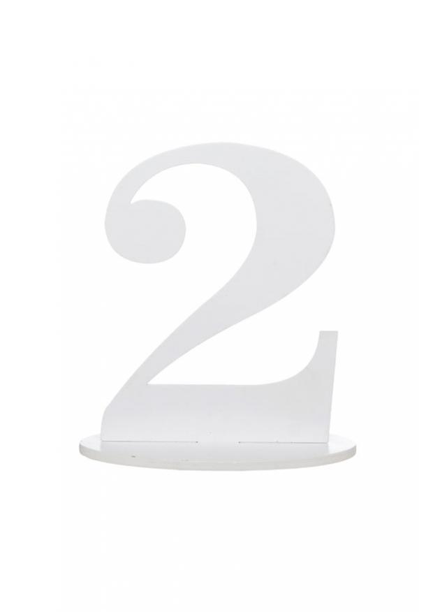 Extrêmement 1 chiffre géant 2 marque-table blanc 16cm NL93