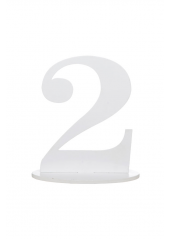 1 marque-table blanc chiffre 2