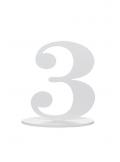 1 marque-table blanc chiffre 3
