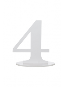 1 marque-table blanc chiffre 4