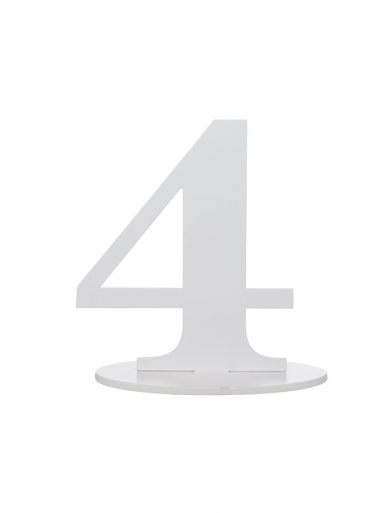 1 marque-table blanc chiffre 4