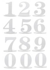 1 marque-table blanc chiffre 5