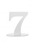 1 marque-table blanc chiffre 7