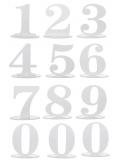 1 marque-table blanc chiffre 8