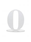 1 marque-table blanc chiffre 9