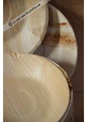 25 Assiettes palmier rondes 20cm