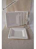50 assiettes carr es 15cm fibre de canne sucre. Black Bedroom Furniture Sets. Home Design Ideas