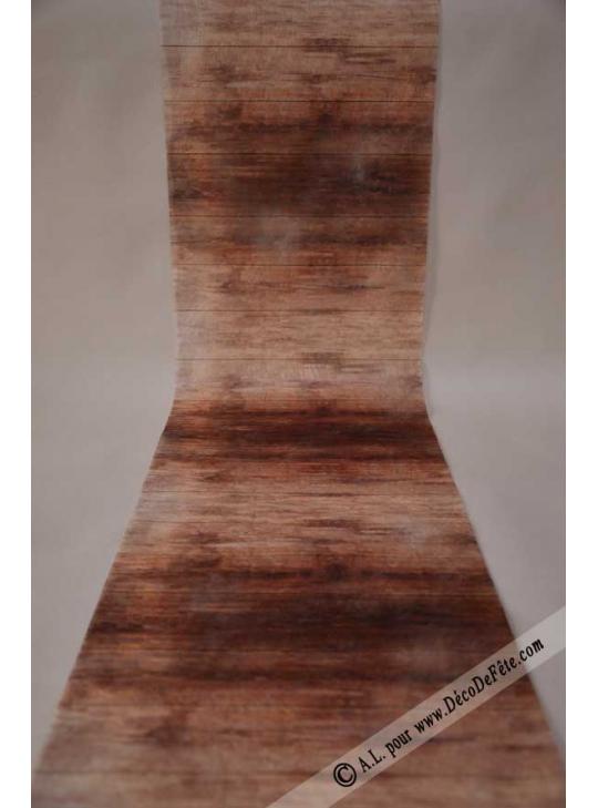 5m chemin de table planches de bois cchocolat. Black Bedroom Furniture Sets. Home Design Ideas