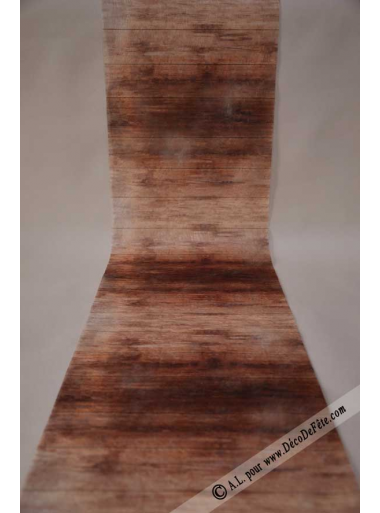 5M chemin de table bois chocolat