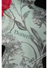 5M chemin de table Butterfly noir