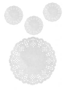 10 napperons sous verre BLANC 10cm