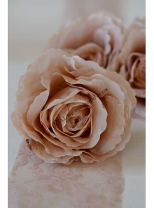 1 rose COLETTE organza taupe