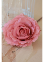 1 rose COLETTE organza vieux rose