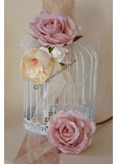 1 rose COLETTE organza rose pastel