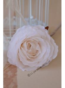 1 rose COLETTE organza blanc