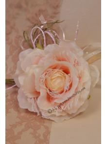 1 rose MAGDA dentelle rose