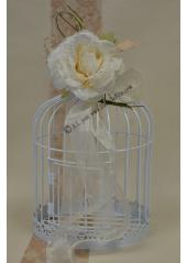 1 rose MAGDA dentelle ivoire
