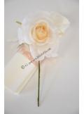 1 petite rose JULIA ivoire