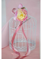 1 pivoine vanille rose