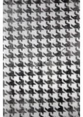 5M ruban Pied de poule 10cm noir