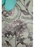 5M chemin de table Butterfly aqua