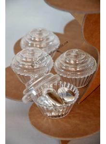 4 Boites cupcake transparent