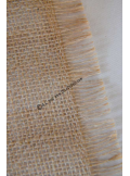 5M chemin de table toile de jute LARA 28cm effilée
