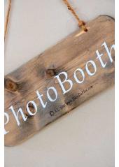1 pancarte bois PHOTOBOOTH 25cm