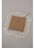 6 napperons carrés  ADRIANA jute à frange