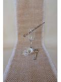 5M chemin de table jute GUSTAVE chevrons bicolore 30cm