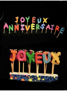 """18 Bougie """"joyeux anniversaire"""""""