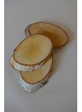 3 tranches de bois ovales